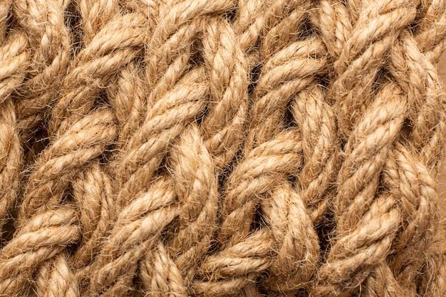 Bovenaanzicht touw textuur samenstelling