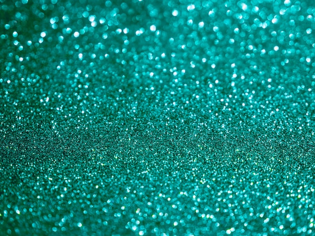 Bovenaanzicht turquoise glitter achtergrond