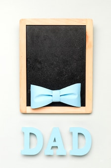 Bovenaanzicht vaderdag concept