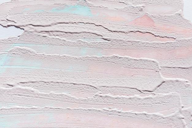 Bovenaanzicht van abstracte verf penseelstreken op het oppervlak