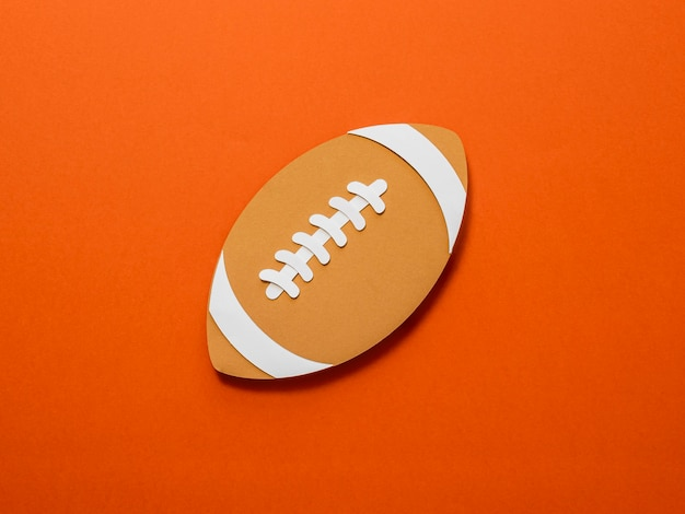 Bovenaanzicht van amerikaans voetbal