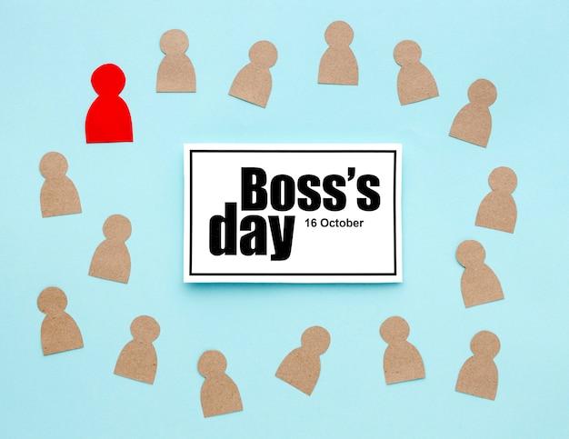 Bovenaanzicht van baas dag concept