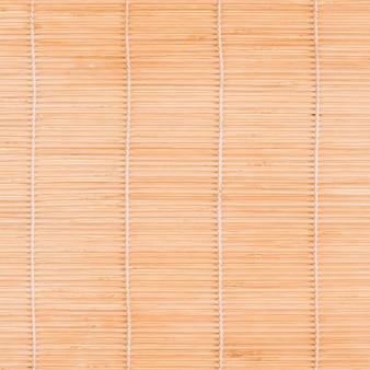 Bovenaanzicht van bamboe mat