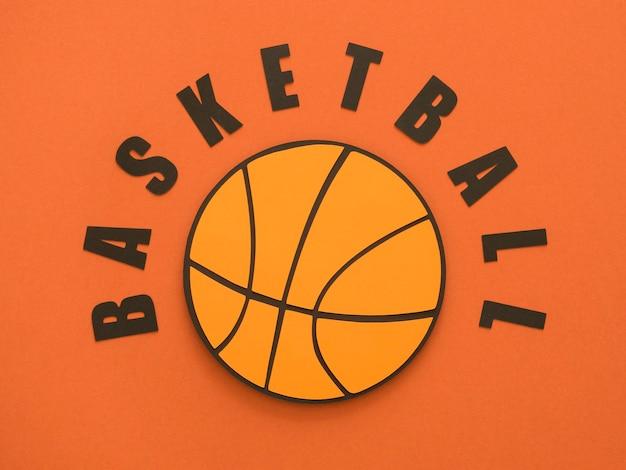 Bovenaanzicht van basketbal