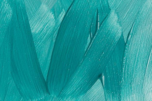 Bovenaanzicht van blauwe verf penseelstreken