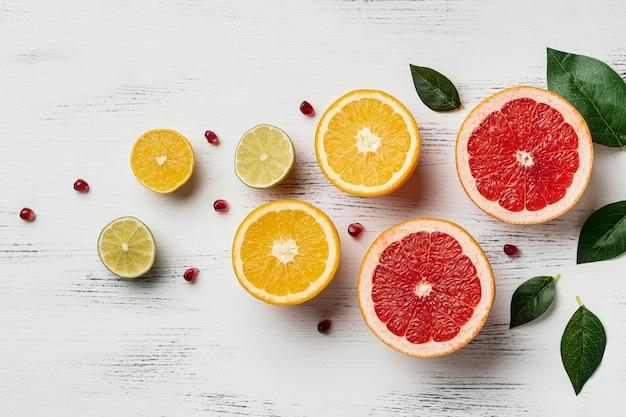 Bovenaanzicht van citrus