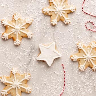Bovenaanzicht van cookies arrangement concept