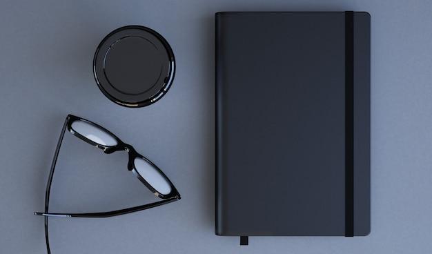 Bovenaanzicht van de notebook