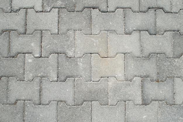 Bovenaanzicht van de straatstenen voor achtergrondstructuren
