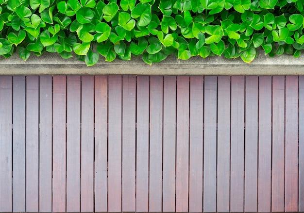 Bovenaanzicht van de tuin met houten vloer