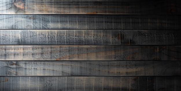 Bovenaanzicht van donkere oude houten tafel textuur