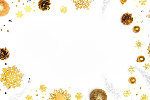Bovenaanzicht van elegant kerstconcept