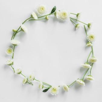 Bovenaanzicht van floral frame