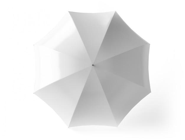 Bovenaanzicht van geïsoleerde paraplu