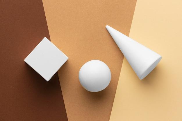 Bovenaanzicht van geometrische vormen