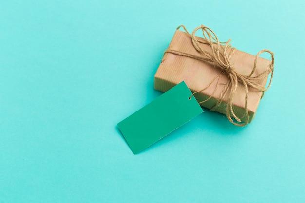 Bovenaanzicht van geschenkdoos