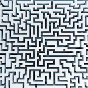 Bovenaanzicht van groot wit labyrint