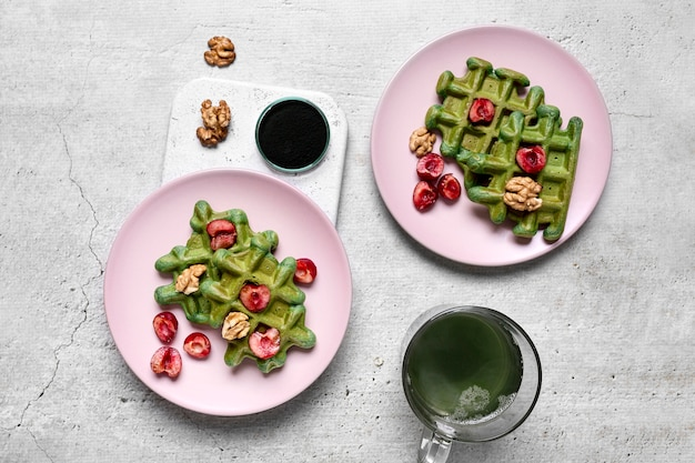 Bovenaanzicht van heerlijk eten concept