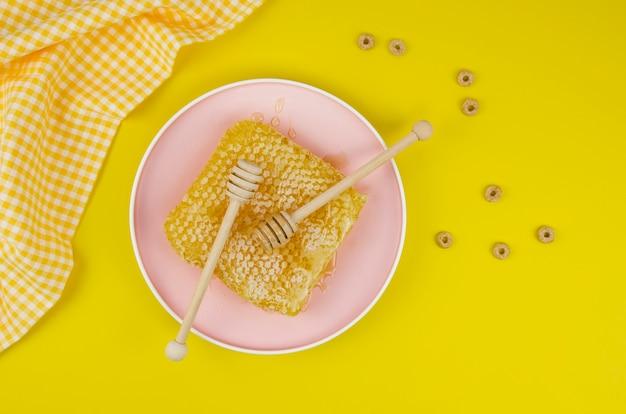Bovenaanzicht van heerlijke honing