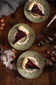 Bovenaanzicht van heerlijke traditionele cake
