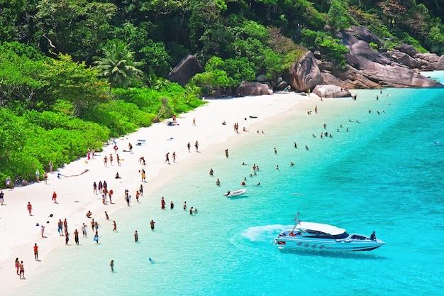 Bovenaanzicht van het eiland similan. thailand