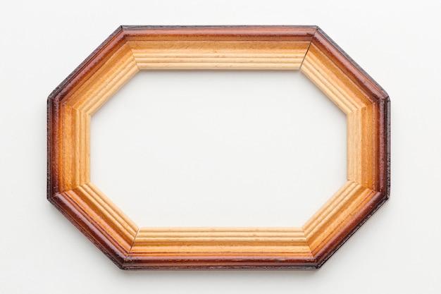 Bovenaanzicht van houten frame concept