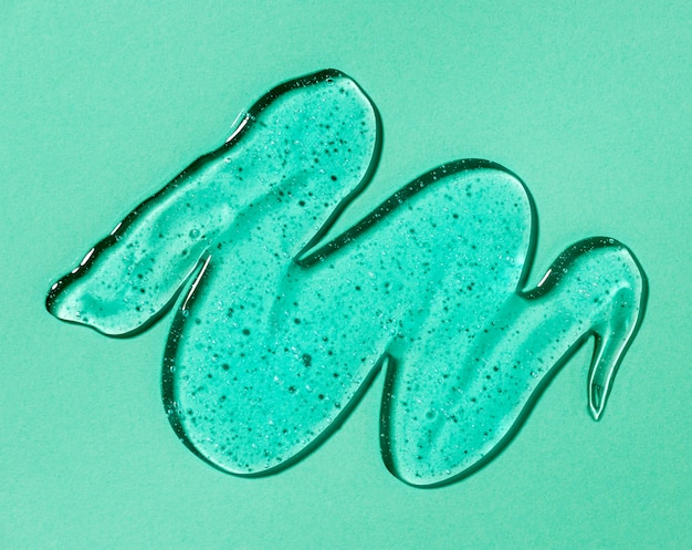 Bovenaanzicht van hydro-alcoholische gel