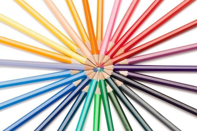 Bovenaanzicht van kleurpotlodenster