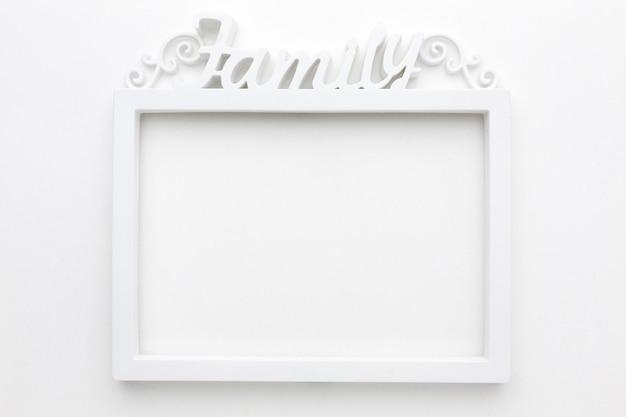 Bovenaanzicht van mooie houten frame concept