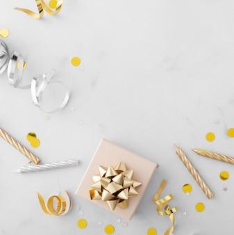 Bovenaanzicht van mooie verjaardag concept