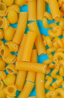 Bovenaanzicht van pasta