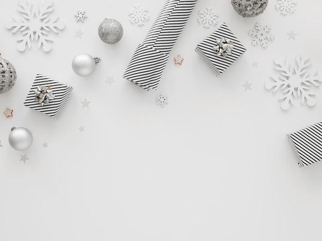 Bovenaanzicht van prachtige kerst concept
