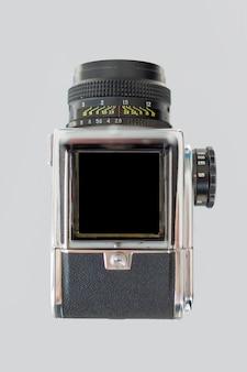 Bovenaanzicht van retro camera