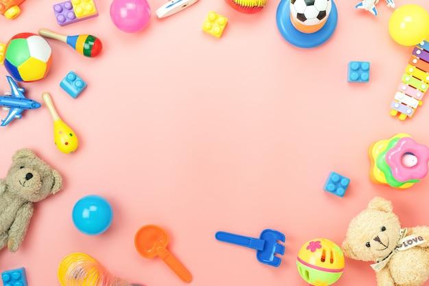Bovenaanzicht van speelgoed