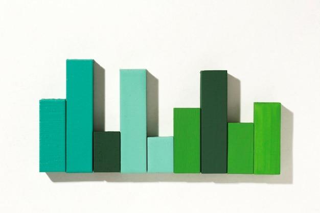Bovenaanzicht van statistiekenpresentatie met grafiek