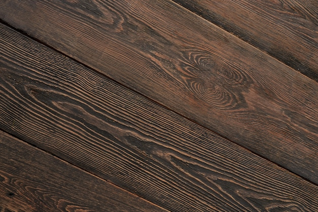 Bovenaanzicht van textuur donkere houten achtergrond