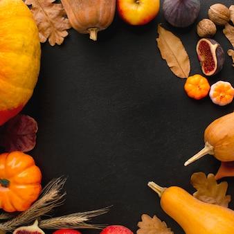 Bovenaanzicht van thanksgiving concept met kopie ruimte