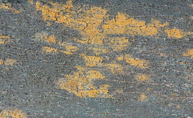Bovenaanzicht van verf op grof oppervlak