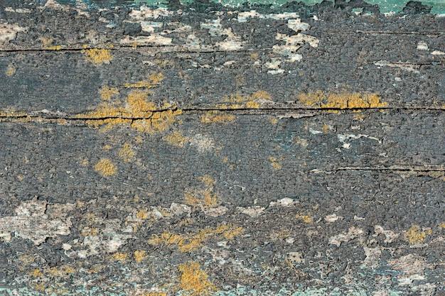 Bovenaanzicht van verouderd oppervlak met verf