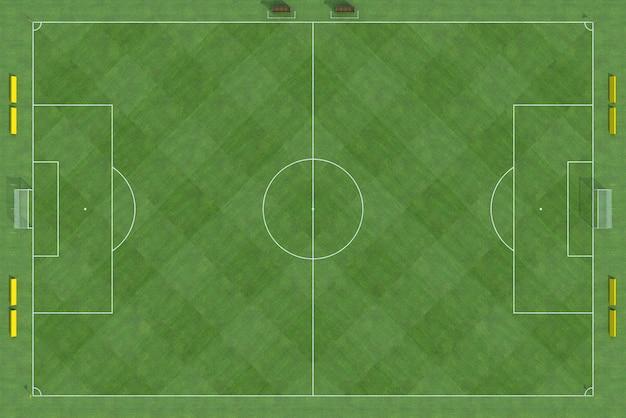 Bovenaanzicht van voetbalveld