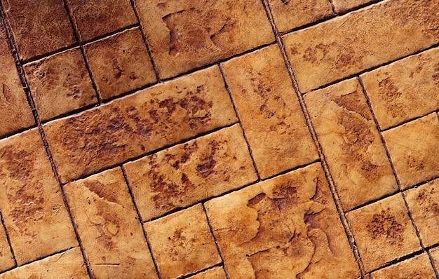 Bovenaanzicht van voetpad van de tegelvloer