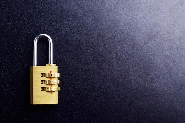 Bovenaanzicht van wachtwoordhangslot