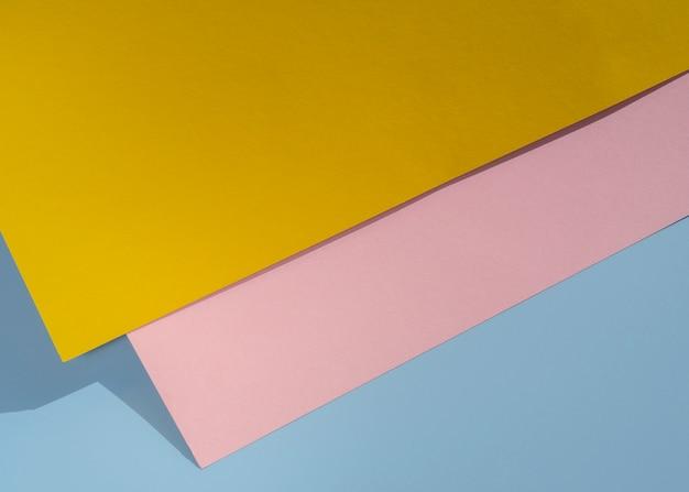 Bovenaanzicht veelhoek papieren ontwerp