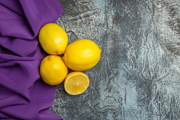Bovenaanzicht verse citroenen