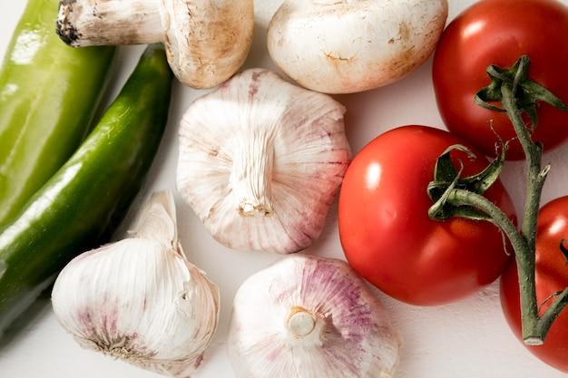 Bovenaanzicht verse groenten