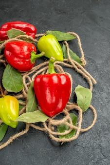 Bovenaanzicht verse paprika