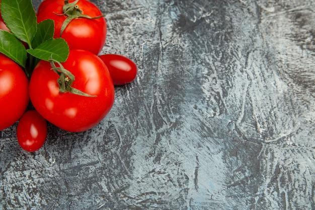 Bovenaanzicht verse rode tomaten