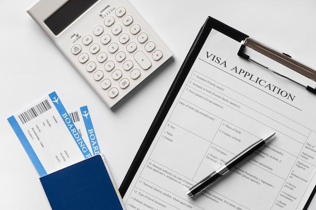 Bovenaanzicht visumaanvraag regeling