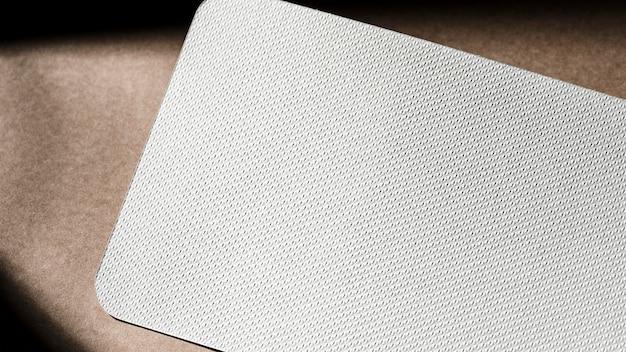 Bovenaanzicht wit geweven karton