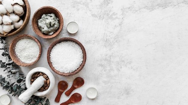 Bovenaanzicht zelfgemaakte remedies frame
